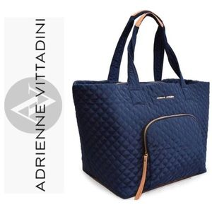 🆕 ADRIENNE VITTADINI Quilted Nylon XXL Tote